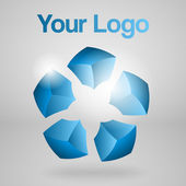 abstraktes Vektor-Logo. Vektorillustration