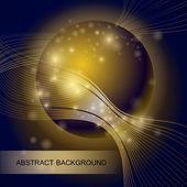 pozadí abstraktní s gold skleněná koule