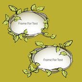 Vector floral frames,  vector illustration