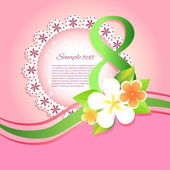 Womens day vector greeting card with flowers