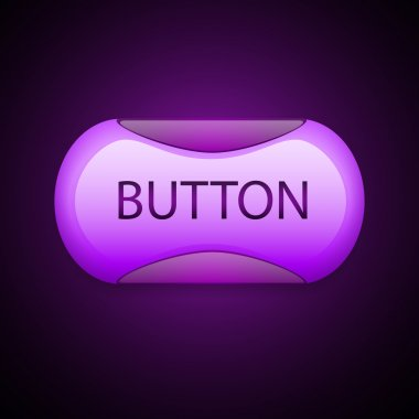 Set of colorful 3d button. Vector illustration. stock vector