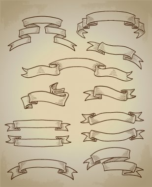 Set of vector vintage banners stock vector