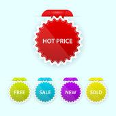 barevné moderní prodej odznak kolekce