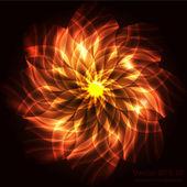 Vektor narancs virág háttér