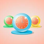 A színes órák, vektor illusztráció