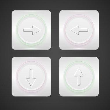 Vector arrow buttons vector illustration stock vector