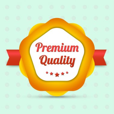 Premium quality label - Bestseller stock vector