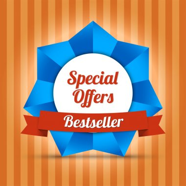 Special offers label. Bestseller stock vector