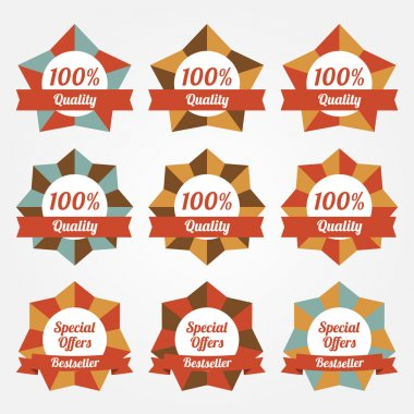 Set of vector sale labels, badges stock vector