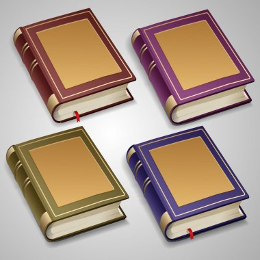 Vector set of old books stock vector