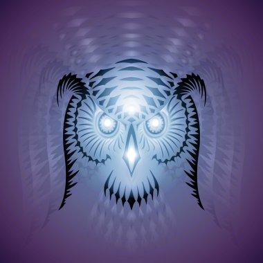 Owl head - ornamented vector illustration stock vector
