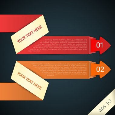 Colored arrows for your text, vector stock vector