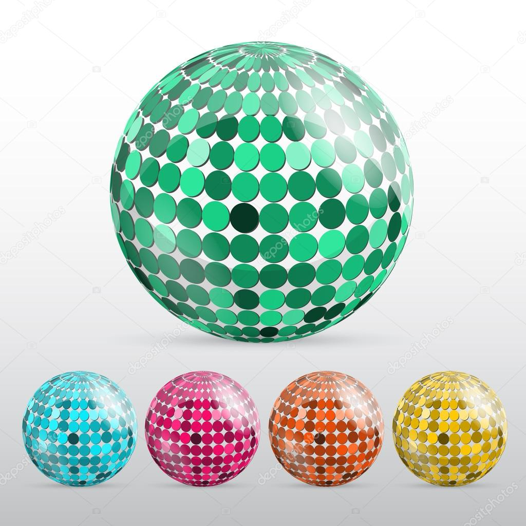 Glossy colorful abstract globes stock vector