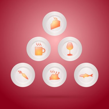 A vector illustration of different food icons stock vector