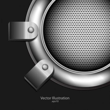 Abstract metallic background. vector design stock vector