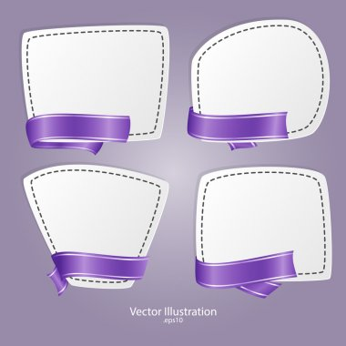 Vector set of banners with ribbons. stock vector