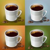 vektorové sada šálků kávy.