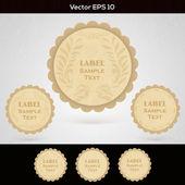 Set of wooden labels