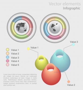 Set elements of infographics stock vector
