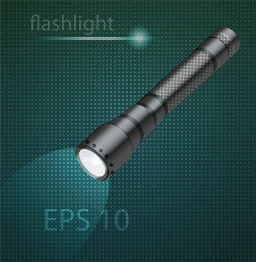 Vector illustration of flashlight stock vector