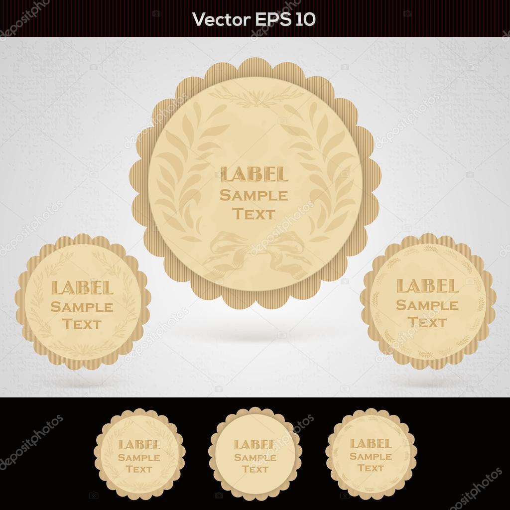Set of wooden labels stock vector