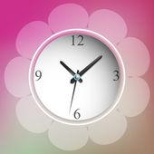 Vektorillustration der Uhr
