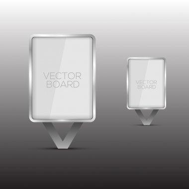 Vector Glass Billboard vector illustration stock vector