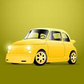 Tuning gelbes Retro-Auto, Vektor