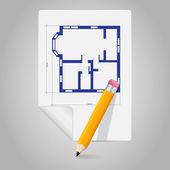 vektorové architektonický plán ikona