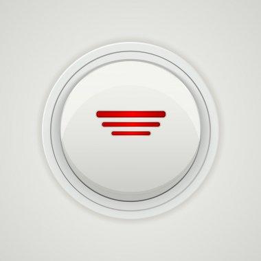 Vector power button design stock vector