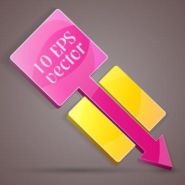 Colorful arrow banner. Vector illustration. stock vector