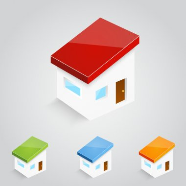 Set of vector house icons stock vector