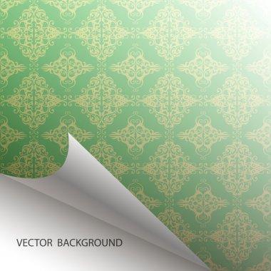 Seamless Damask background vector illustration stock vector