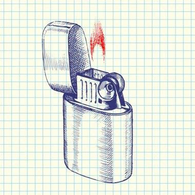 Lighter sketch vector illustration stock vector