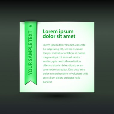 Vector banner with green ribbon stock vector