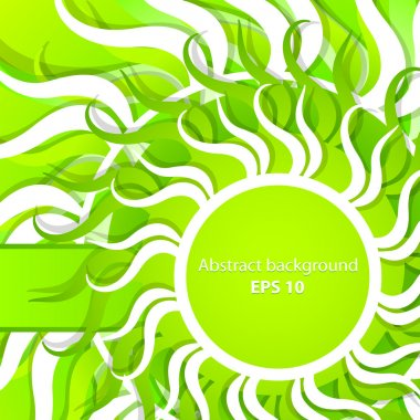 Vector abstract spring background stock vector