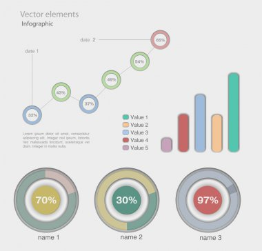 Infographic Vector Graphs and Elements. stock vector
