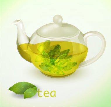 Vector transparent teapot vector illustration stock vector