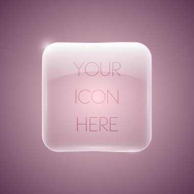 Vector glossy pink icon stock vector