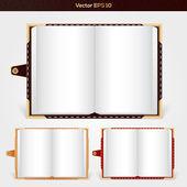 Nyitott jegyzettömbök vektoros illusztráció