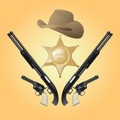 vektor texas šerif sada