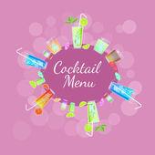 Vektorrahmen mit Cocktails