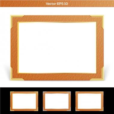 Set of vector frames stock vector