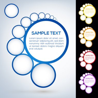 Abstract web design bubbles stock vector