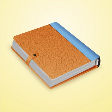 Closed dairy book. Vector. stock vector