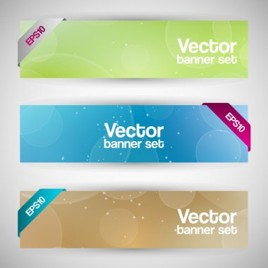 Vector set of colorful banners stock vector