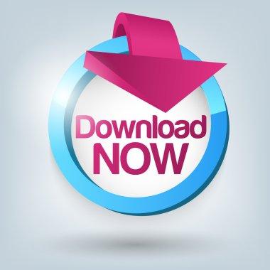 Download now button. Vector stock vector