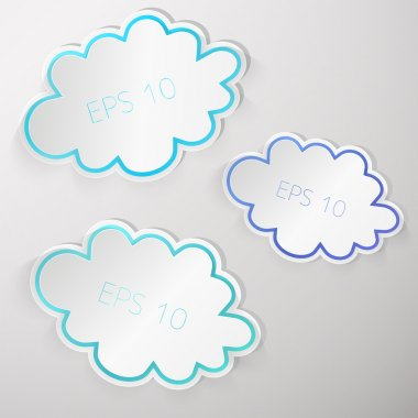 Vector design set of clouds stock vector