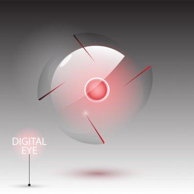 Digital eye (camera), vector stock vector