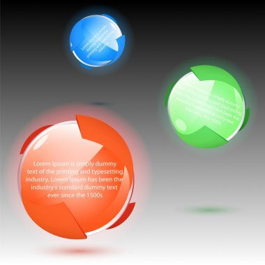 Set of colorful balls, vector stock vector
